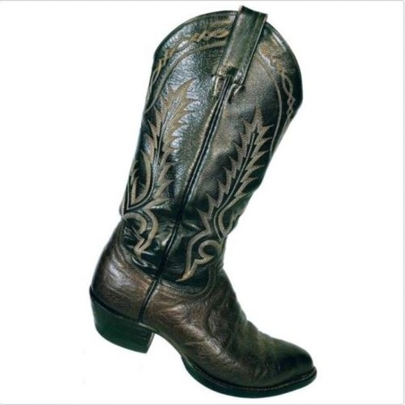 727c13abea5 Tony Lama Men's Brown Leather Cowboy Boots 6 B